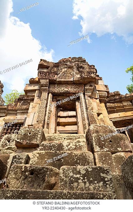 The ruins of Wat Ek Phnom temple near Battambang, Cambodia