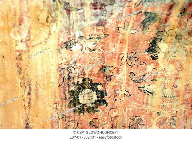ancient art wall painting texture background