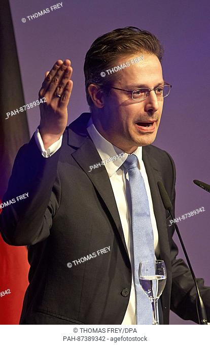 AfD European Parliament member Marcus Pretzell speaks at the start of the congress of the right-wing populist ENF group in the European Parliament in Koblenz