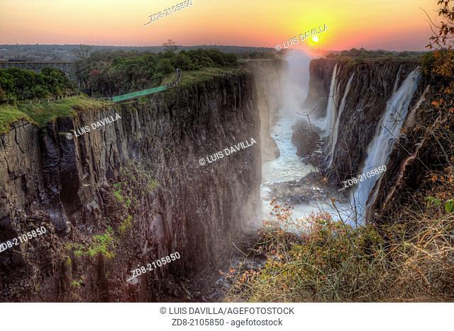victoria falls in zambia side
