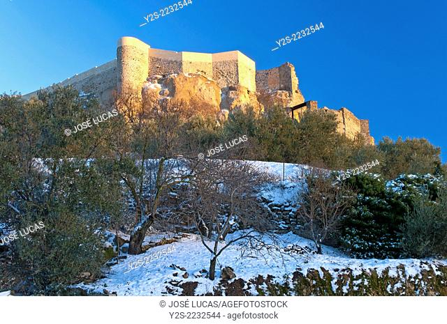 La Mota Fortress, Alcala la Real, Jaen-province, Region of Andalusia, Spain, Europe