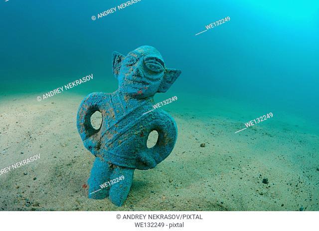 antique statue at the bottom of Lake Baikal, Siberia, Russia, Eurasia