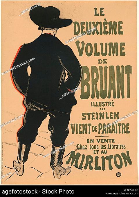 Bruant at the Mirliton - 1893 - Henri de Toulouse-Lautrec French, 1864-1901 - Artist: Henri de Toulouse-Lautrec, Origin: France, Date: 1893