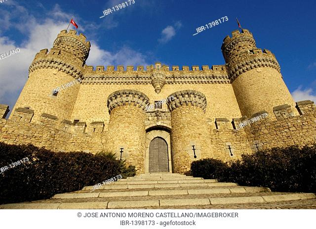 Castle of Manzanares el Real, Madrid, Spain, Europe