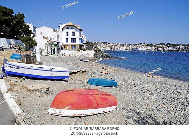 Playa del Portal beach, Cadaques, Costa Brava, Catalonia, Spain, Europe, Strand Playa des Portal, Cadaques, Costa Brava, Katalonien, Spanien, Europa