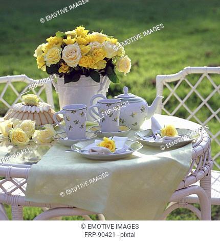 Terrace table for tea time