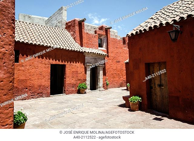 Santa Catalina of Siena Monastery 1579.Arequipa. Peru. UNESCO World Heritage Site