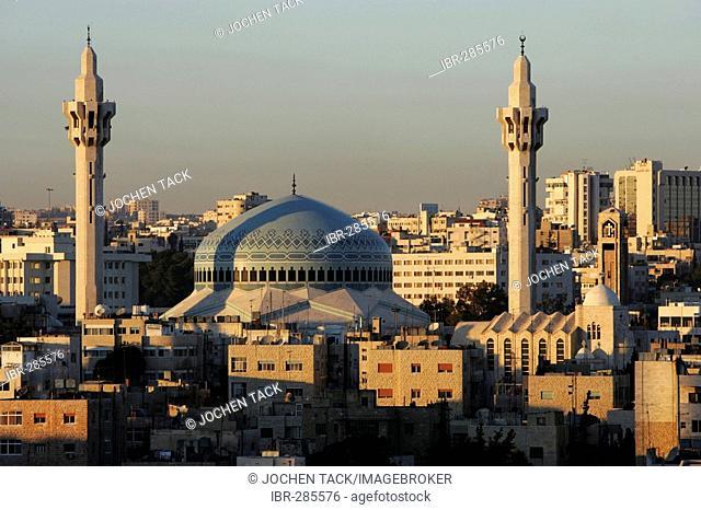 King Abdullah Mosque, in the Al-Abdali district, Amman, Jordan