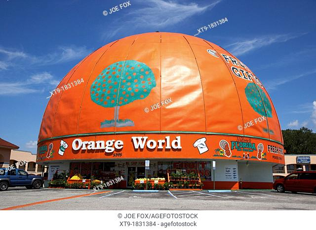 eli's orange world the worlds largest orange kissimmee florida usa