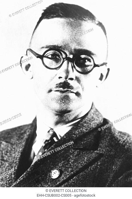 Heinrich Himmler, head of the Nazi's Black Shirt troopers or Schutzstaffel (SS) from 1929-1945. The SS began as a paramilitary group to guard Nazi meetings