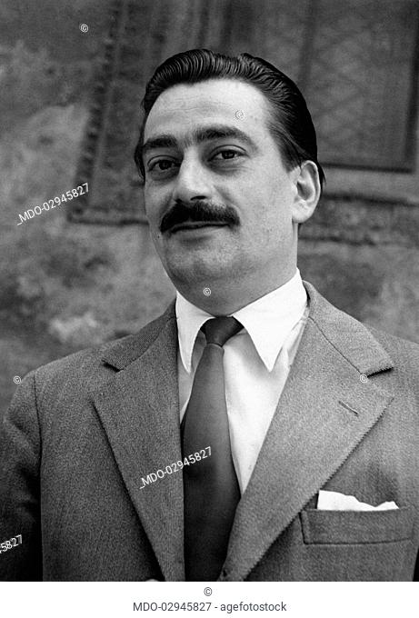 Portrait of Italian partisan and lawyer Pier Luigi Bellini delle Stelle who was in command of the partisans party that arrested Benito Mussolini and fascist...