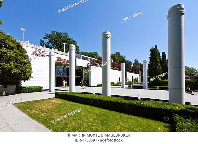 The Olympic Museum, opened in 1993 on the initiative of Juan Antonio Samaranch, Lausanne, Canton of Vaud, Lake Geneva, Switzerland, Europe