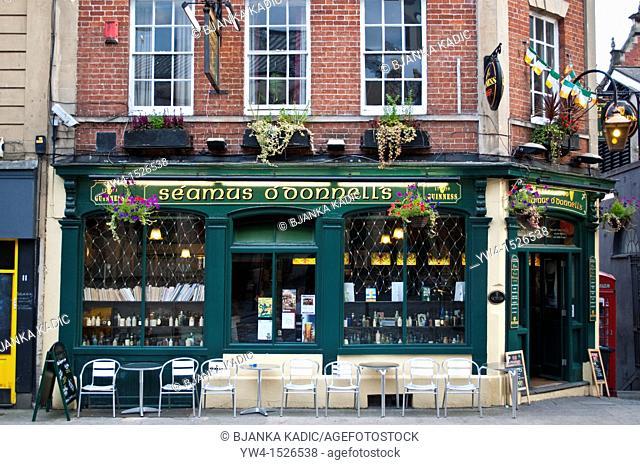 Irish pub in the Old town, Bristol, England, United Kingdom
