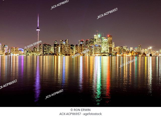 City of Toronto, Ontario, Canada, as seen from Algonquin Island - one of the Toronto Islands