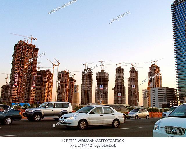 Dubai, construction site around Burj Dubai, United Arab Emirates