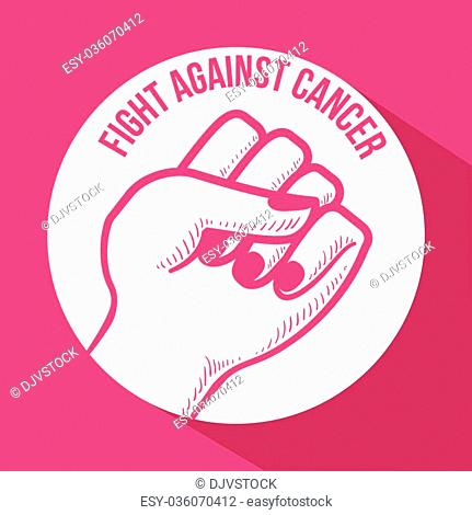 Breast Cancer concept with fight icons design, vector illustration 10 eps graphic