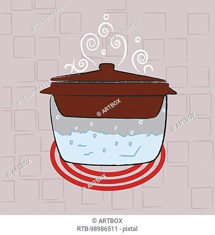 Saucepan on the stove