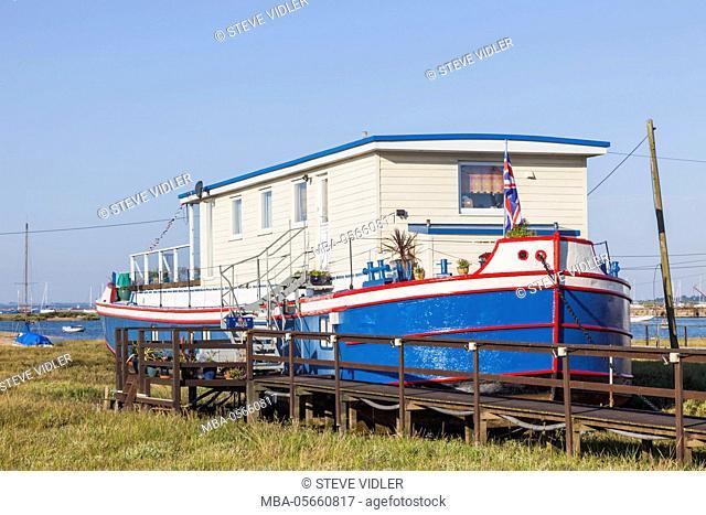 England, Essex, Mersea Island, Boathouse