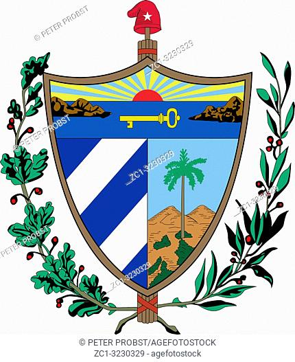National coat of arms of the Republic Cuba