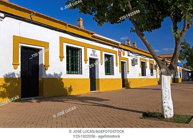 Urban view, La Zarza, Huelva-province, Huelva, Spain