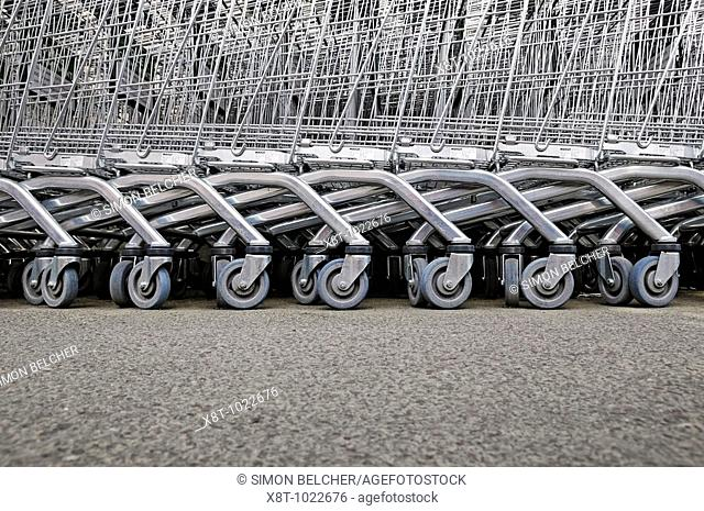 Shopping Trolleys, Low Angle