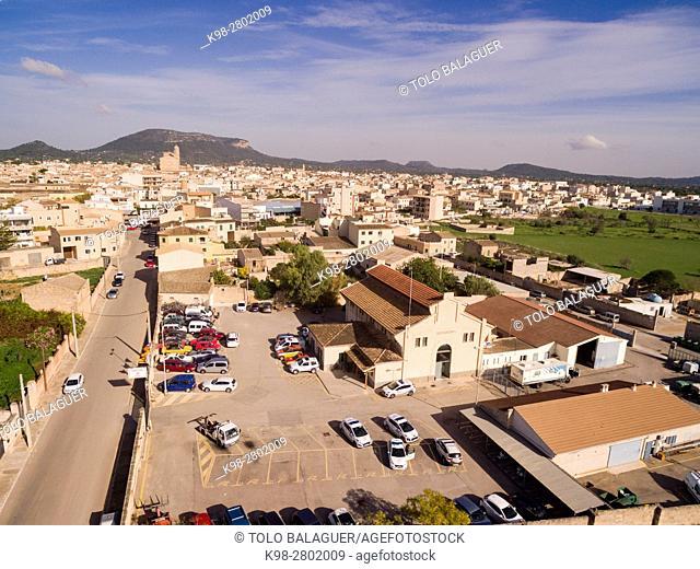 Municipal police offices, Llucmajor, Mallorca, balearic islands, spain, europe