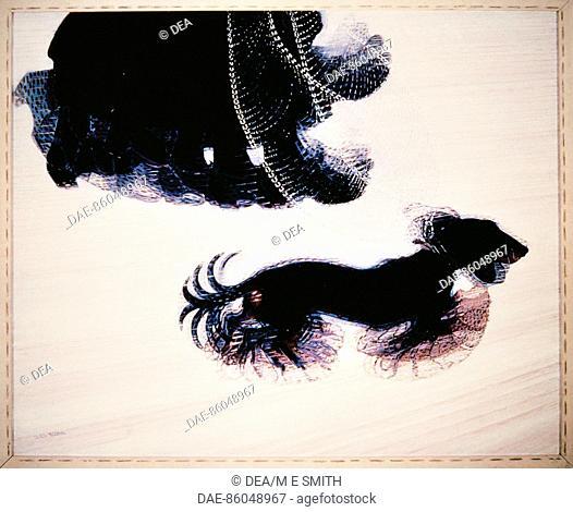 Giacomo Balla (1871-1958), Dynamism of a Dog on a Leash, 1912, oil on canvas.  Buffalo, Albright-Knox Art Gallery