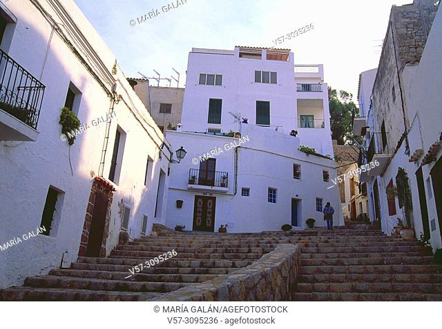 Old town. Ibiza, Balearic Islands, Spain