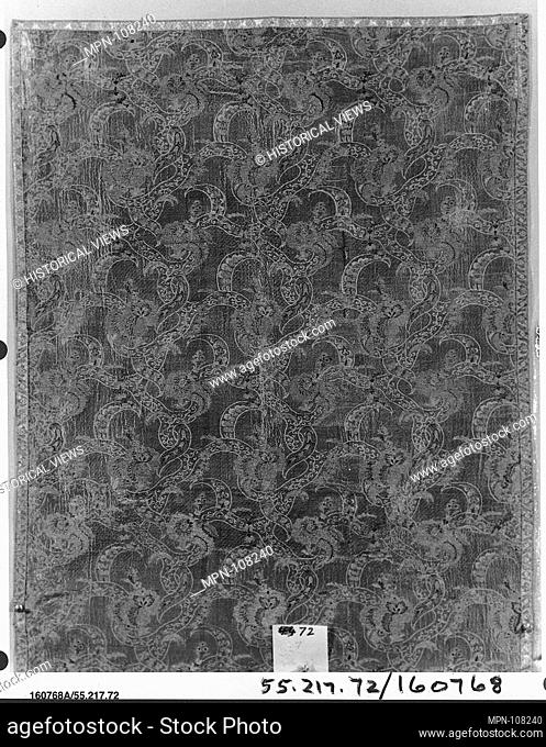 Piece. Date: possibly ca. 1720; Culture: Italian, Venice; Medium: Silk and metal thread; Dimensions: L. 51 1/2 x W. 27 3/4 inches (130.8 x 70