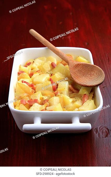 Tartiflette Potato, bacon, cheese and onion bake, France