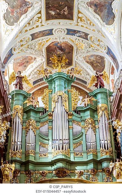 Beauty organ in Jasna Gora Sanctuary - Czestochowa, Poland