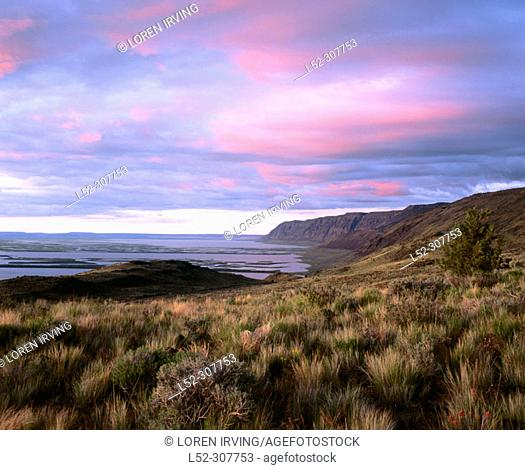 Sunset on Hart Mountain. Hart Mountain National Antelope Refuge. Lake County. Oregon, USA