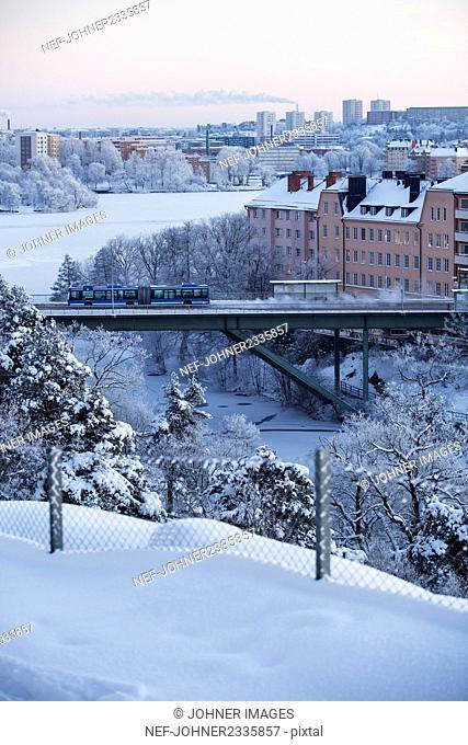 City at winter