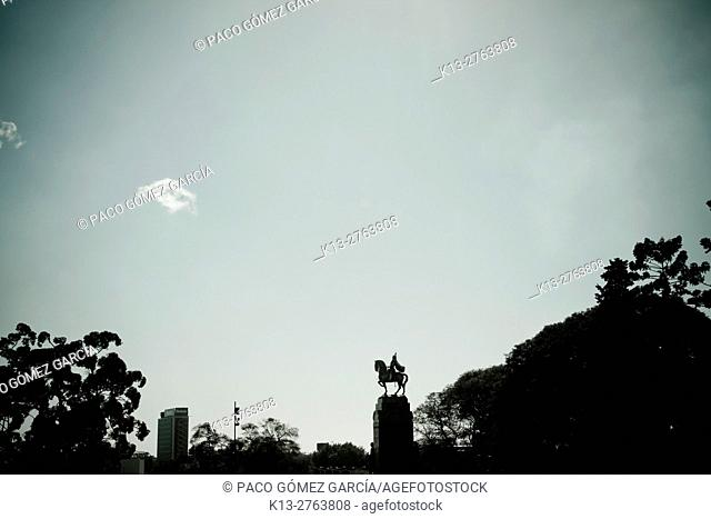 Statues in the sky of Buenos Aires. Argentina