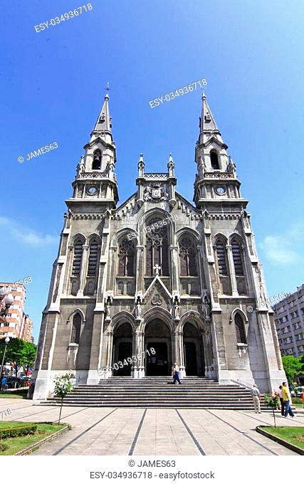 Cathedral of aviles in Asturias, Spain