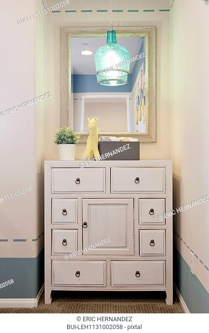 Chest of drawers in child's room