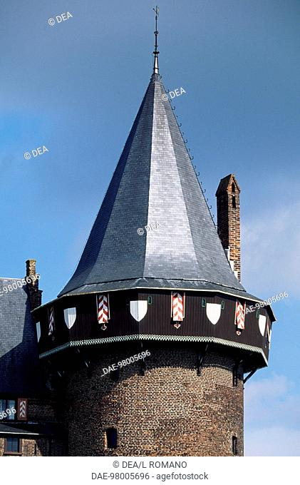 Detail from the tower of Castle de Haar, 1892, by architect Pierre Cuypers. The Netherlands