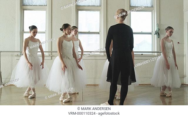 ballerinas and instructor