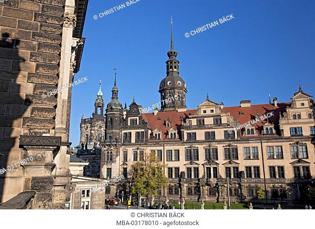 Dresden residence castle in the Old Town, Dresden, Saxon, Germany