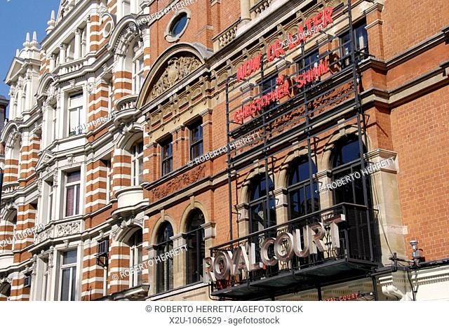 The Royal Court Theatre in Sloane Square, Chelsea, London, England
