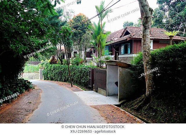 Gardening, walk way, penang hill, penang, Malaysia
