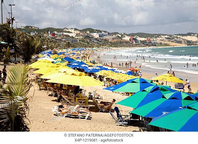 Praia do Ponta Negra in Natal, Rio Grande do Norte. Brazil