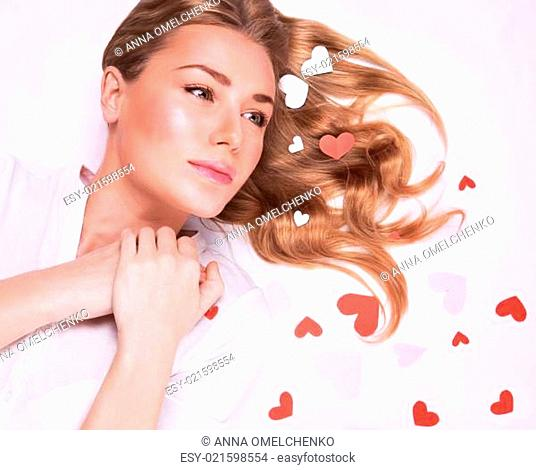 Young lady in love