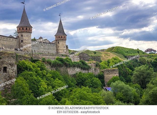 Castle in Kamianets-Podilskyi city in Khmelnytskyi Oblast of western Ukraine