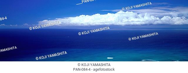 Ocean and Clouds, Oahu, Hawaii, USA