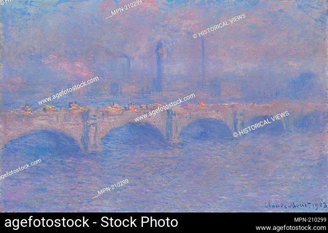 Waterloo Bridge, Sunlight Effect - 1903 - Claude Monet French, 1840-1926 - Artist: Claude Monet, Origin: France, Date: 1903, Medium: Oil on canvas