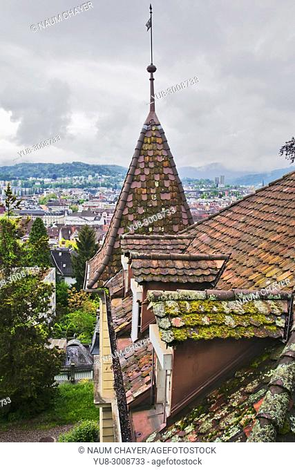 Tower of Medieval building, Switzerland, Europe