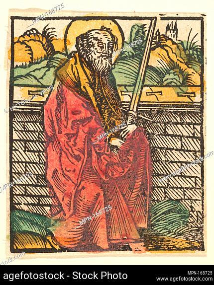 St. Paul (adaptation). Artist: After Hans Baldung (called Hans Baldung Grien) (German, Schwäbisch Gmünd (?) 1484/85-1545 Strasbourg (Strassburg)); Date: after...