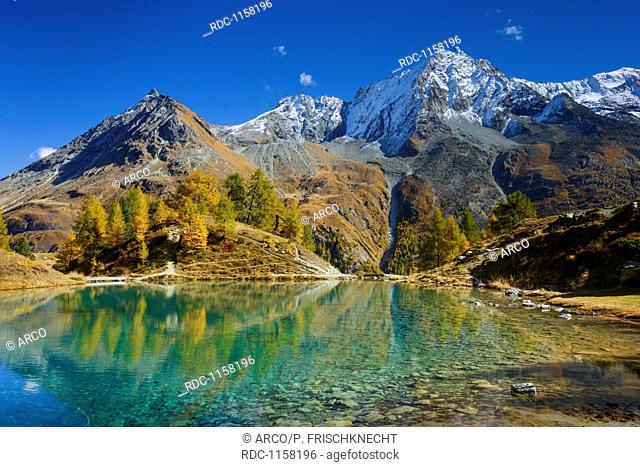 Lac Bleu, Grande Dent de Veisivi, Dent de Perroc, Wallis, Schweiz