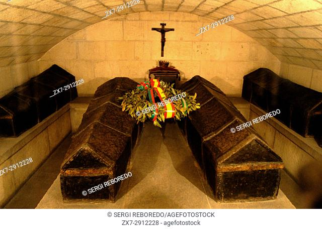 Sepulchres of Catholic Monarchs in crypt of the cathedral Royal Chapel. 16th century. Granada. Andalucia, Spain
